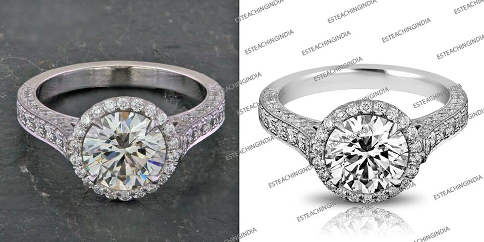 Diamond Rings Photo Editing and Retouching Services