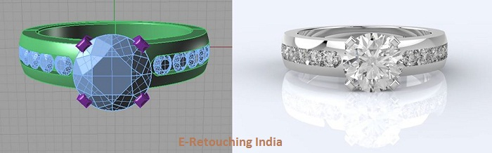 Jewelry Product Retouching Services