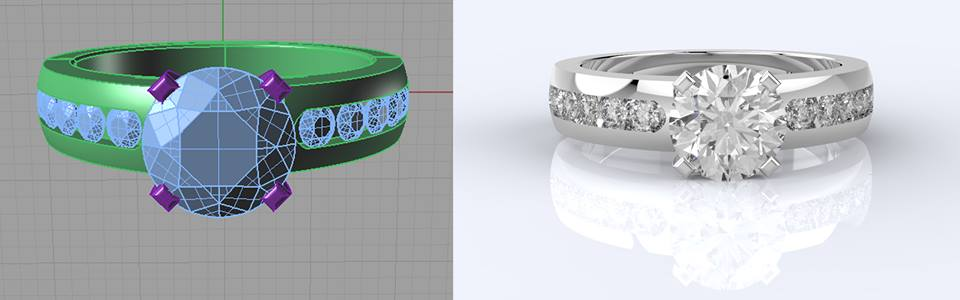 Diamond Jewelry Photo CAD Designing Services