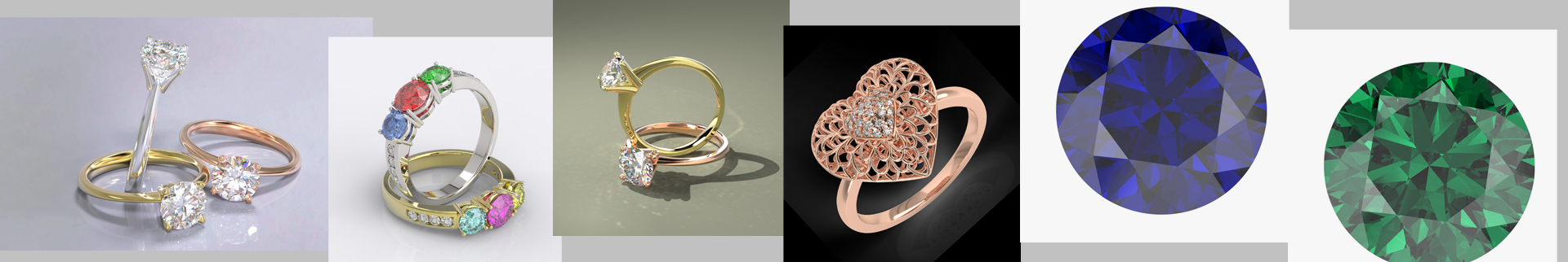 Jewelry Photo Editing, Retouching Services, Jewelry CAD Designing, Rendering and Animation Services